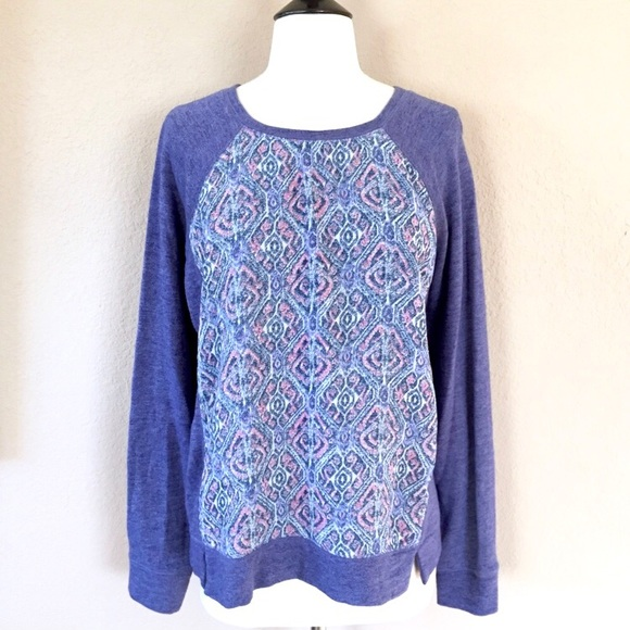 Lucky Brand Sweaters - Lucky Brand purple paisley sweater L
